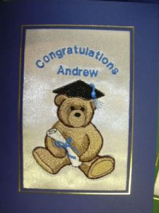 PERSONALISED GRADUATION TEDDY AND CERTIFICATE CARD